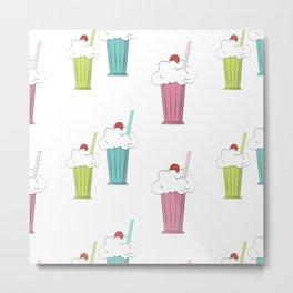 milkshake cocktail Metal Print