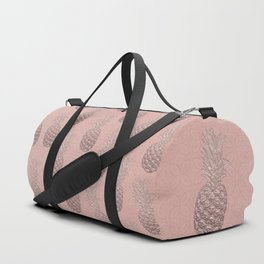 Precious Pineapple Pattern Rose Gold Duffle Bag