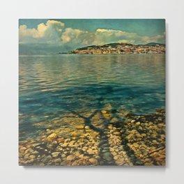 Ohrid lake digitalpainted Metal Print