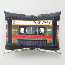 Retro classic vintage gold mix cassette tape Pillow Sham