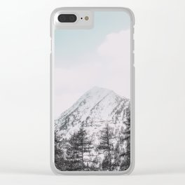 Mountains, Nature, Landscape, Minimal, Modern, Wall art Clear iPhone Case