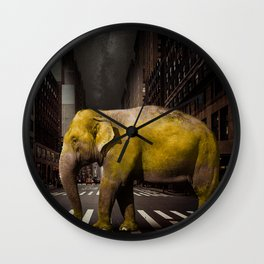 Elephant in New York Wall Clock