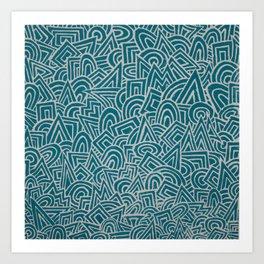 teal test Art Print