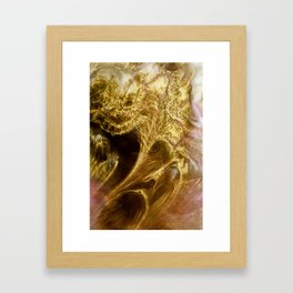 Golden blush Framed Art Print