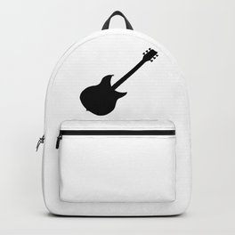 Electric Guitar Silhouette Backpack