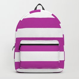 Byzantine -  solid color - white stripes pattern Backpack