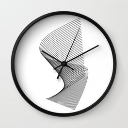 """""""Linear Collection"""" - Minimal Letter S Print Wall Clock"""