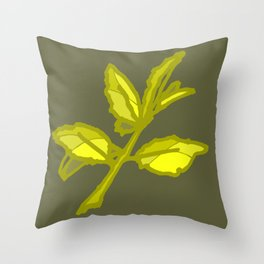 Lemon Leaves Throw Pillow