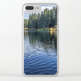 Rippled Reflections on Clear Lake Clear iPhone Case