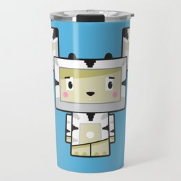 Cute Cartoon Blockimals Zebra Travel Mug