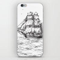 marine iPhone & iPod Skins featuring marine by ismailburc