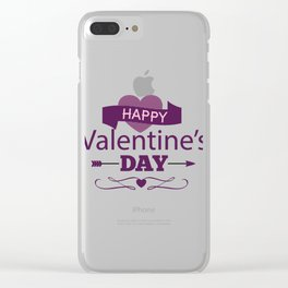 Happy Valentines Day Clear iPhone Case