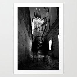 Shadows in Prague Art Print