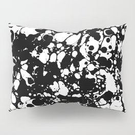 Black and white contrast ink spilled paint mess Pillow Sham