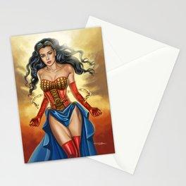 Steampunk WonderWoman Stationery Cards