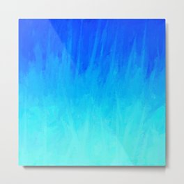 Icy Blue Blast Metal Print