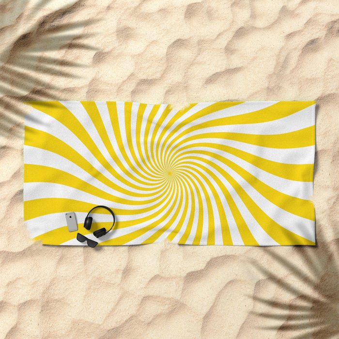 Swirl (Gold/White) Beach Towel