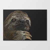 sloth Canvas Prints featuring SLOTH  by JosephMills