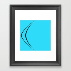 BLU_ Framed Art Print