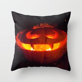 Vampire Pumpkin Throw Pillow
