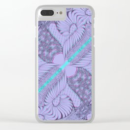 Diagonal Abstract Psychedelic Doodle 5 Clear iPhone Case