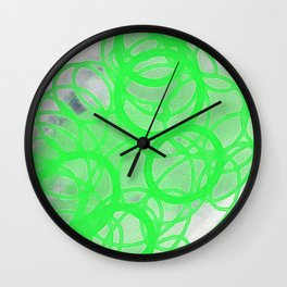 green circles Wall Clock