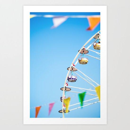 Manege sky colour Art Print