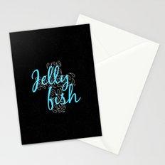 Jellyfish Cross Black Stationery Cards