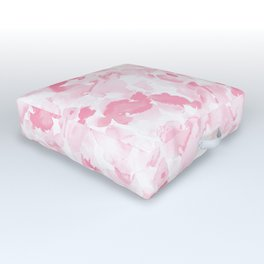 Abstract Flora Millennial Pink Outdoor Floor Cushion