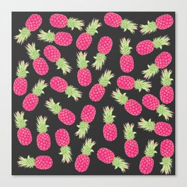 Summer Strawberry Tropical Pineapples Canvas Print