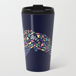 Abstract Dolphin Travel Mug