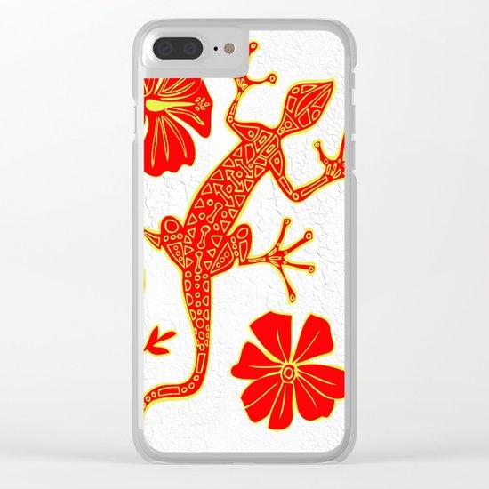 Tribal Lizard Design #1 Clear iPhone Case