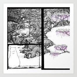 The Garden Gardien Art Print