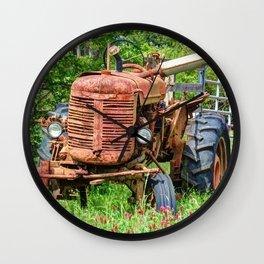 Rusty Farmall Wall Clock