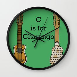 C is for Charango Wall Clock