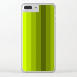lemon stripes modern patterns Clear iPhone Case