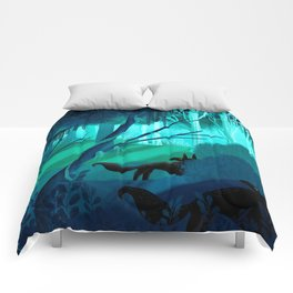 Shadow Wolves Stalk The Silver Wood Comforters