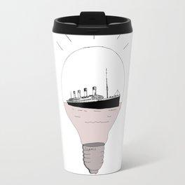 Ship in a light bulb . Travel Mug