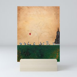 The Penguins Who Paused Mini Art Print