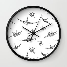 Airplanes Wall Clock