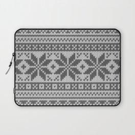 Winter knitted pattern4 Laptop Sleeve