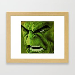 Mean and Green Framed Art Print