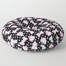 Pretty Baby Brand Whore Allover Black Floor Pillow
