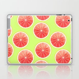Pink Grapefruit Slices Pattern Laptop & iPad Skin