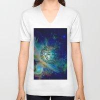 versace V-neck T-shirts featuring Versace Nebula  by RickyRicardo787