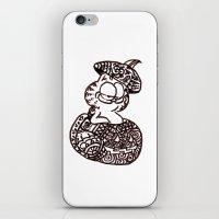 garfield iPhone & iPod Skins featuring 37. Garfield in Henna Pumpkin @ Halloween  by Hennaart yume by kat