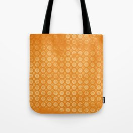 Vintage orange with shapes paper texture Tote Bag