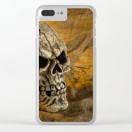 Skull And Sackcloth Clear iPhone Case