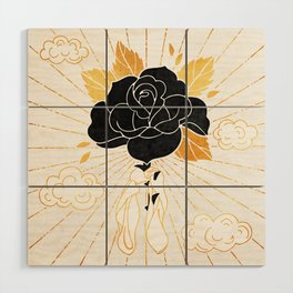 Black Rose Inktober :: Your Psyche Wood Wall Art