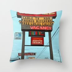 Motel Americana Throw Pillow